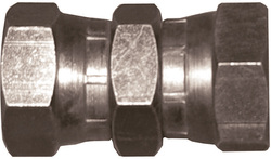 Steel adapter with two swivelling nuts