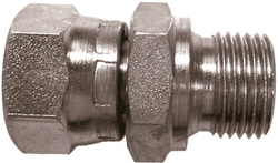 Steel adapter with swivelling nut