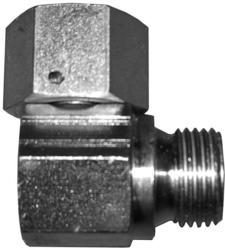 Steel W-adapter with swivelling nut