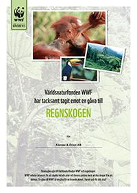 I och med svårigheterna att få en exakt siffra på våra utsläpp i samband med tjänsteresor så har vi valt att klimatkompensera genom att ge bidrag till Världsnaturfonden och deras projekt om att rädda regnskogen.